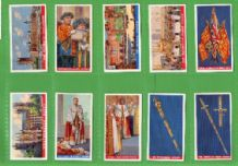 Tobacco Cigarette cards Coronation of their Majesties